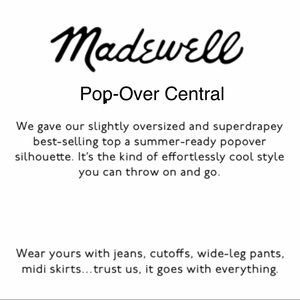 🌸Madewell & Zara Pop-Over Tops, Variety of Sizes